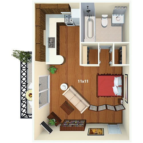 Royal Crest Estates (Nashua) - Studio - The Hampton Floor Plan